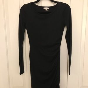 LEITH black side-rouching above the knee dress